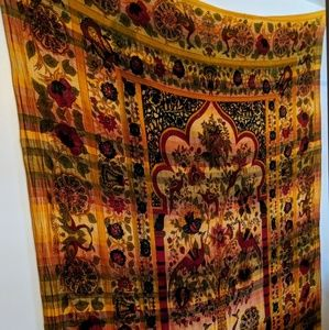 Indian Tree of Life Peacock Tapestry